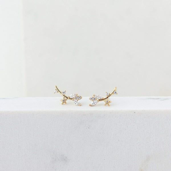 Gold Eden Climber Earrings | boogie + birdie