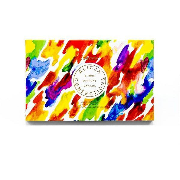 Colour Milk Chocolate Postcard Bar | boogie + birdie