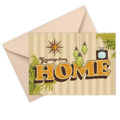 Greetings from Home Card | boogie + birdie