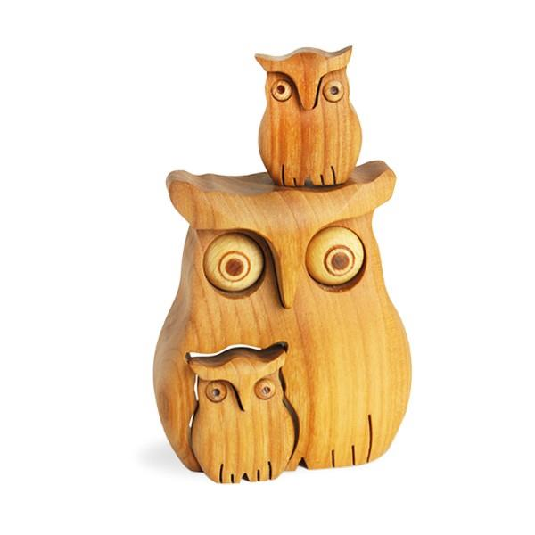 Wood Owl with Two Children | boogie + birdie