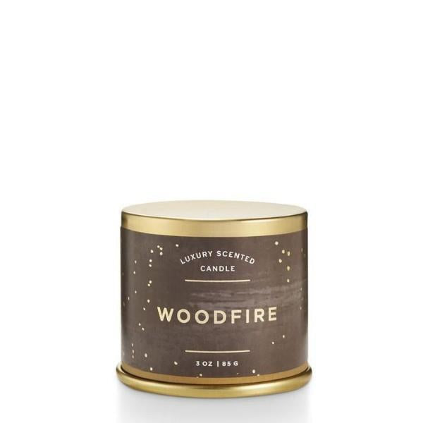 Woodfire Demi Tin Candle | boogie + birdie