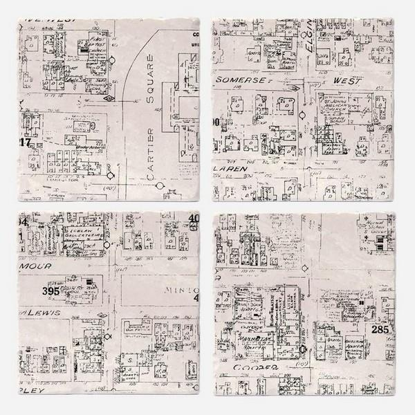 Golden Triangle Maps Coaster Set | boogie + birdie