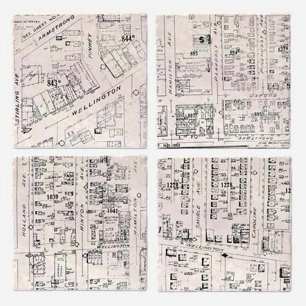 Hintonburg Maps Coaster Set | boogie + birdie