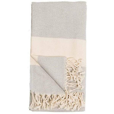 Diamond Mist Turkish Towel | Folded | boogie + birdie