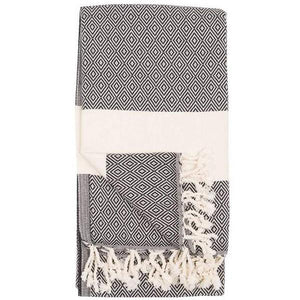 Diamond Carbon Turkish Towel | Folded | boogie + birdie