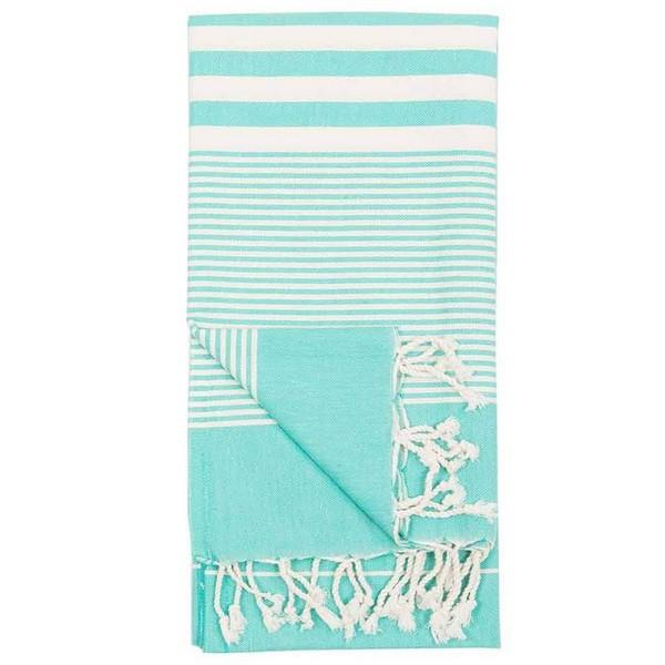 Harem Turquoise Turkish Towel | Folded | boogie + birdie