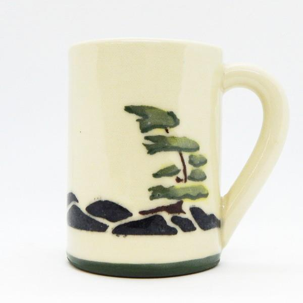 Windswept Tree With Rocks Ceramic Mug | Front | boogie + birdie