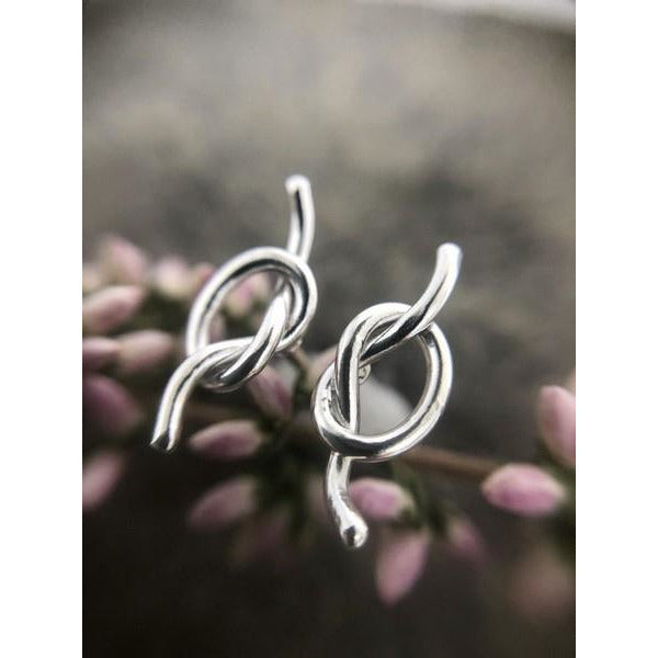 Silver Knot Stud Earrings | boogie + birdie