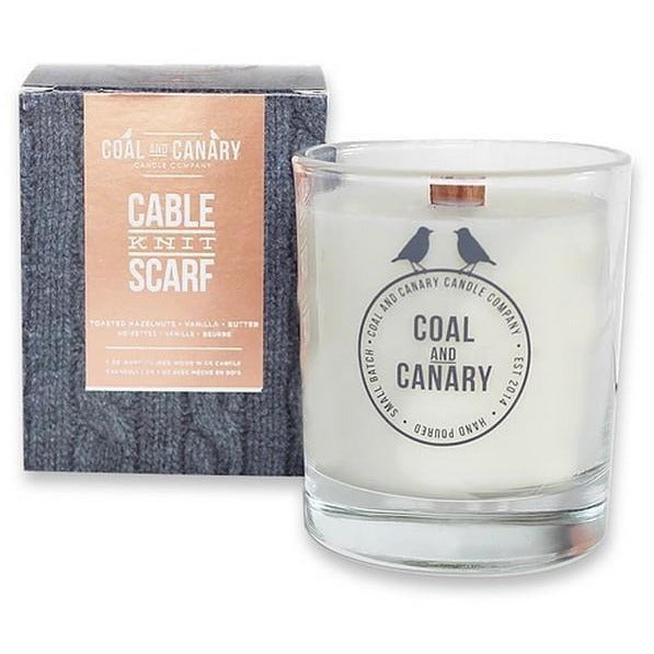 Cable Knit Scarf Candle | boogie + birdie