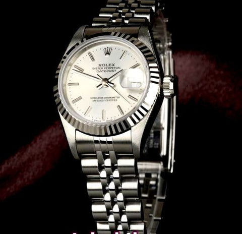 LADY ROLEX DATEJUST STAINLESS STEEL SS QUICKSET W/ FACTORY SILVER DIAL
