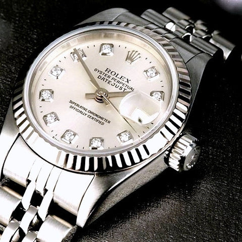 LADY ROLEX DATEJUST STAINLESS STEEL SS QUICKSET W/ FACTORY SILVER DIAL & ORIGINAL BRACELET