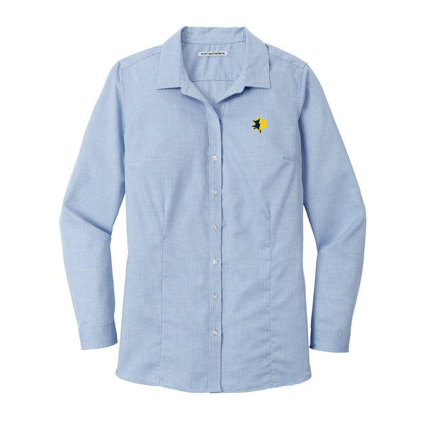 UMCU Ladies Pincheck Easy Care Shirt