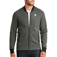EMUCU Men's New Era Baseball Full Zip - Black