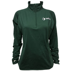 EMUCU Women's Half Zip Pullover - Forest Green