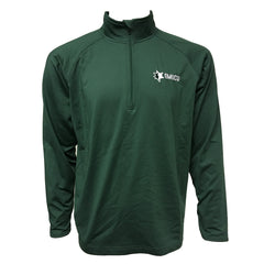EMUCU Men's Half Zip Pullover - Forest Green