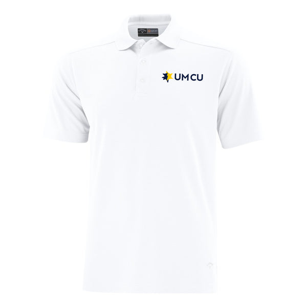 UMCU Callaway Men's Core Performance Polo - White