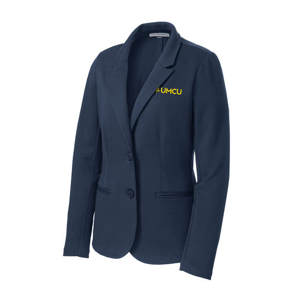 UMCU Ladies Knit Blazer - Navy
