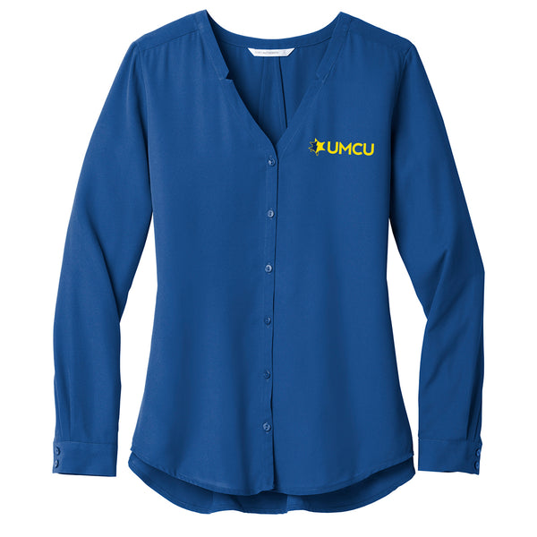 UMCU Button Front Blouse