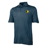 UMCU Men's Striped Charles River Wellsley Polo