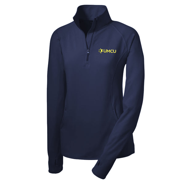 UMCU Sport-Tek Ladies Stretch 1/2 Zip Pullover - Navy