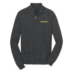 UMCU Port Authority Men's 1/2 Zip Sweater - Charcoal Heather
