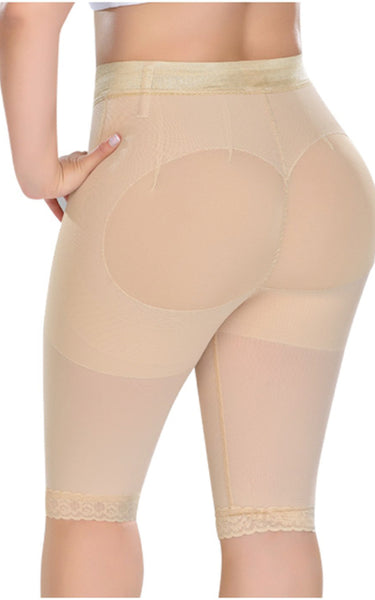 High Waisted Butt Lifting Shorts Long Leg 0323