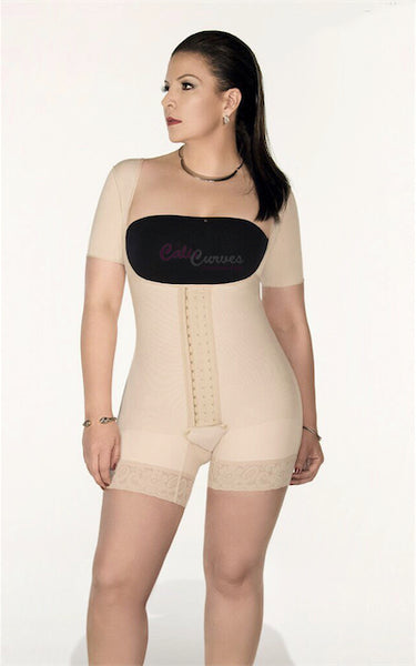 ff80619a0 Full Body Shaper Mid Thigh with Arm Sleeves B003 – Cali Curves ...