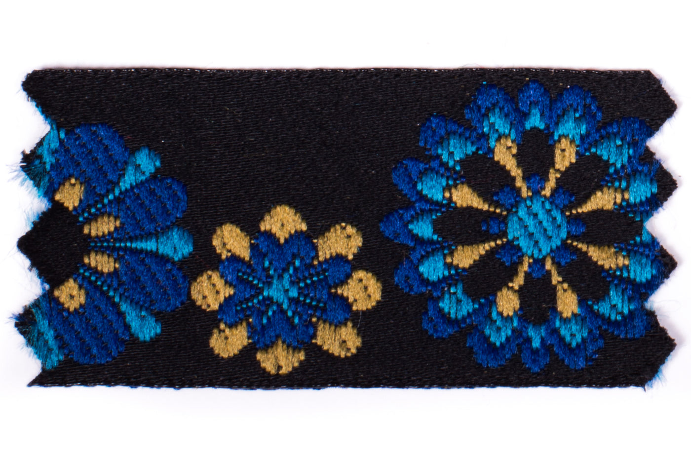 "1"" Inch Braid Floral Ensemble Blue"