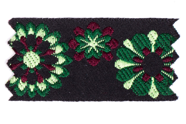 "1"" Inch Braid Floral Ensemble Green 1022344"