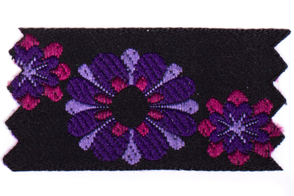 "1"" Inch Braid Floral Ensemble Purple 1024344"