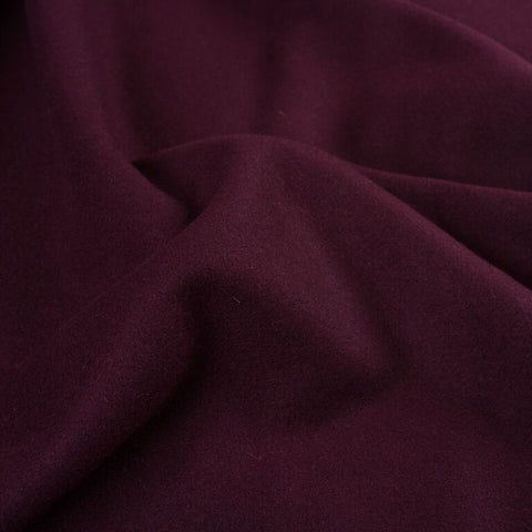 Burgundy - Wool Melton