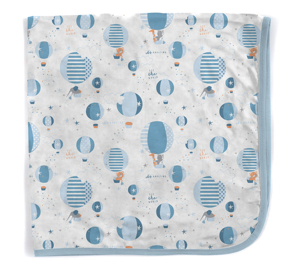 Magnetic Me- Modal Swaddle Blanket- Hot Air Balloon Print