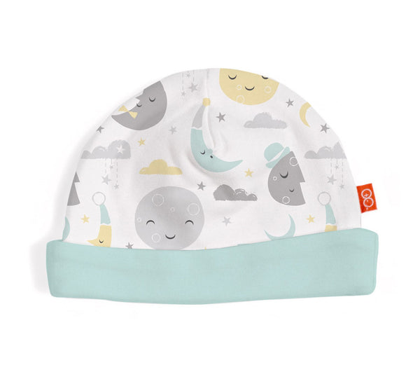 Magnetic Me- Reversible Hat - Mint to the Moon Print