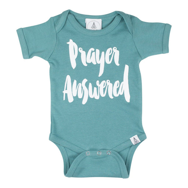 Prayer Answered Onesie in Steel Blue