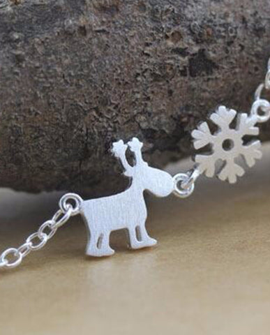 Anar Deer Snowflake Necklace