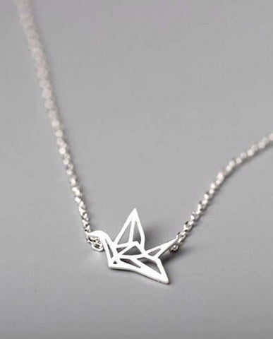 Anar Fashion Lindo Origami Crane Necklace