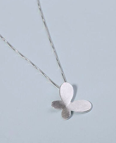 Anar Fashion Silver Butterfly Necklaces