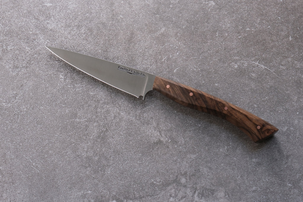 4 1/4 Inch Stainless Paring Knife With Walnut
