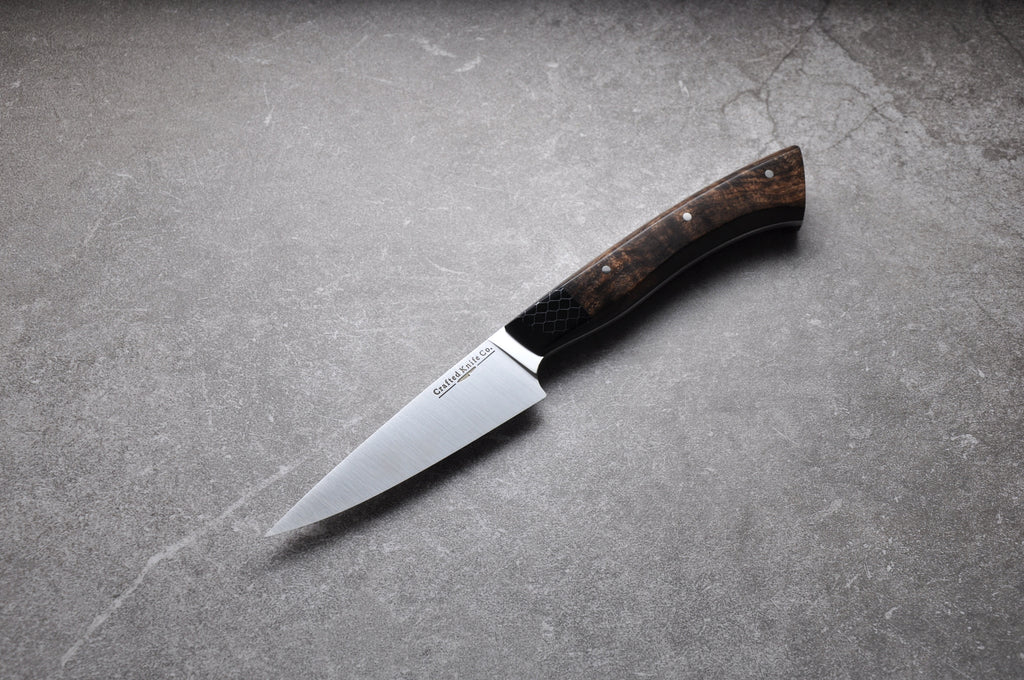 4 1/2 Inch Stainless Paring Utility Knife With Walnut & CTek