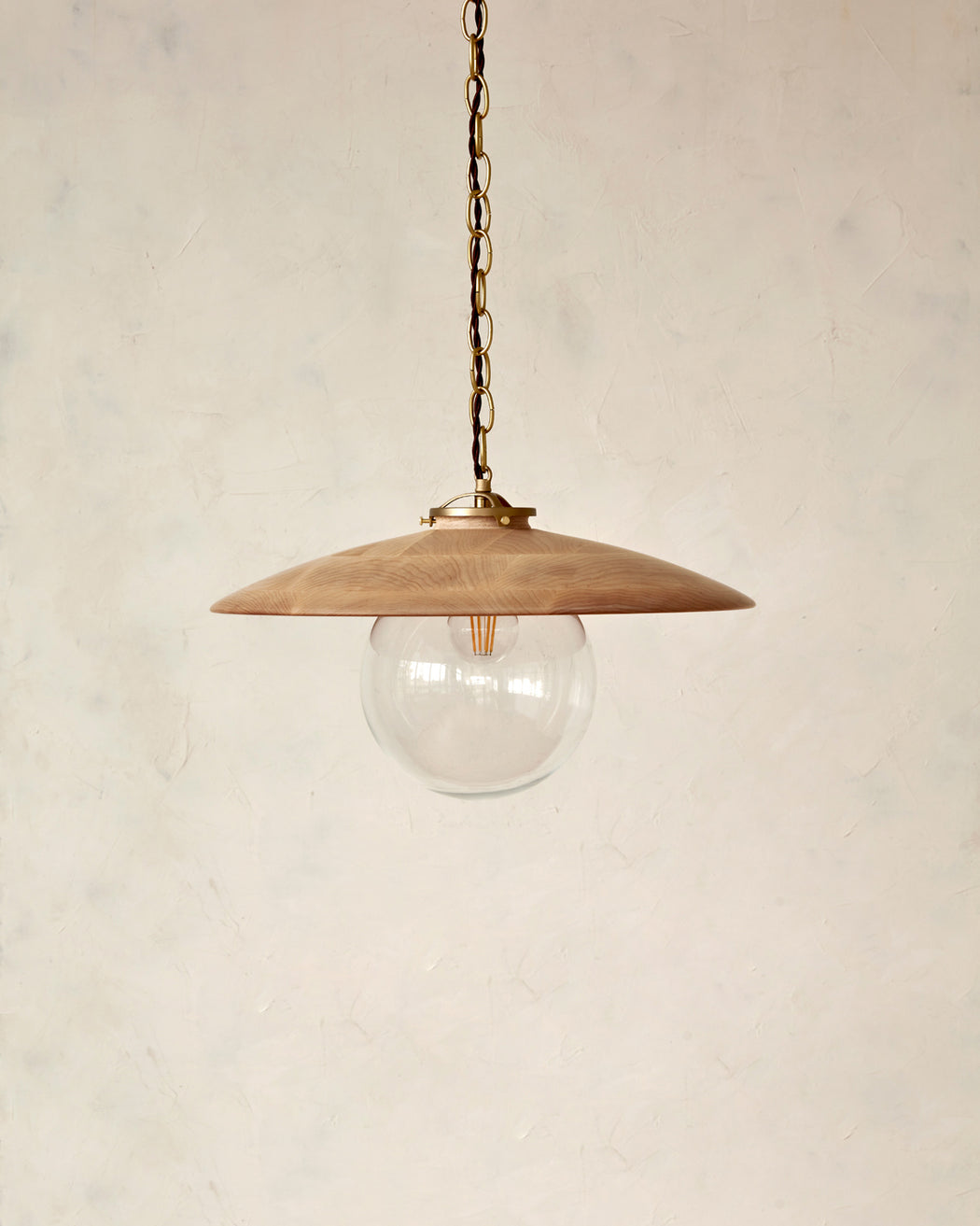 "Edmund Pendant Light - 18"" Natural Maple"