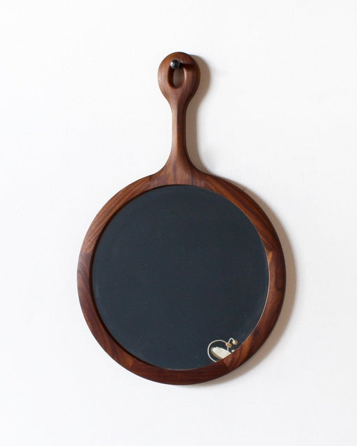 Lostine round black walnut sophia mirror medium
