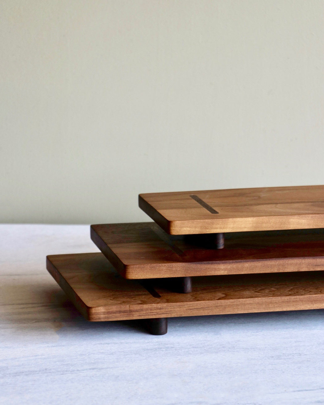 walnut trio of serving boards