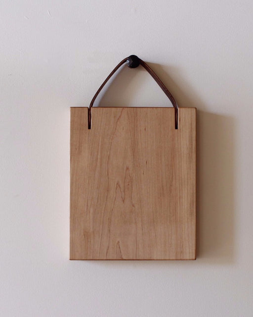 Lostine leather and maple cutting board usa