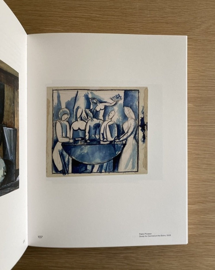 Picasso's Kitchen - Pablo Picasso - Blue figure painting -