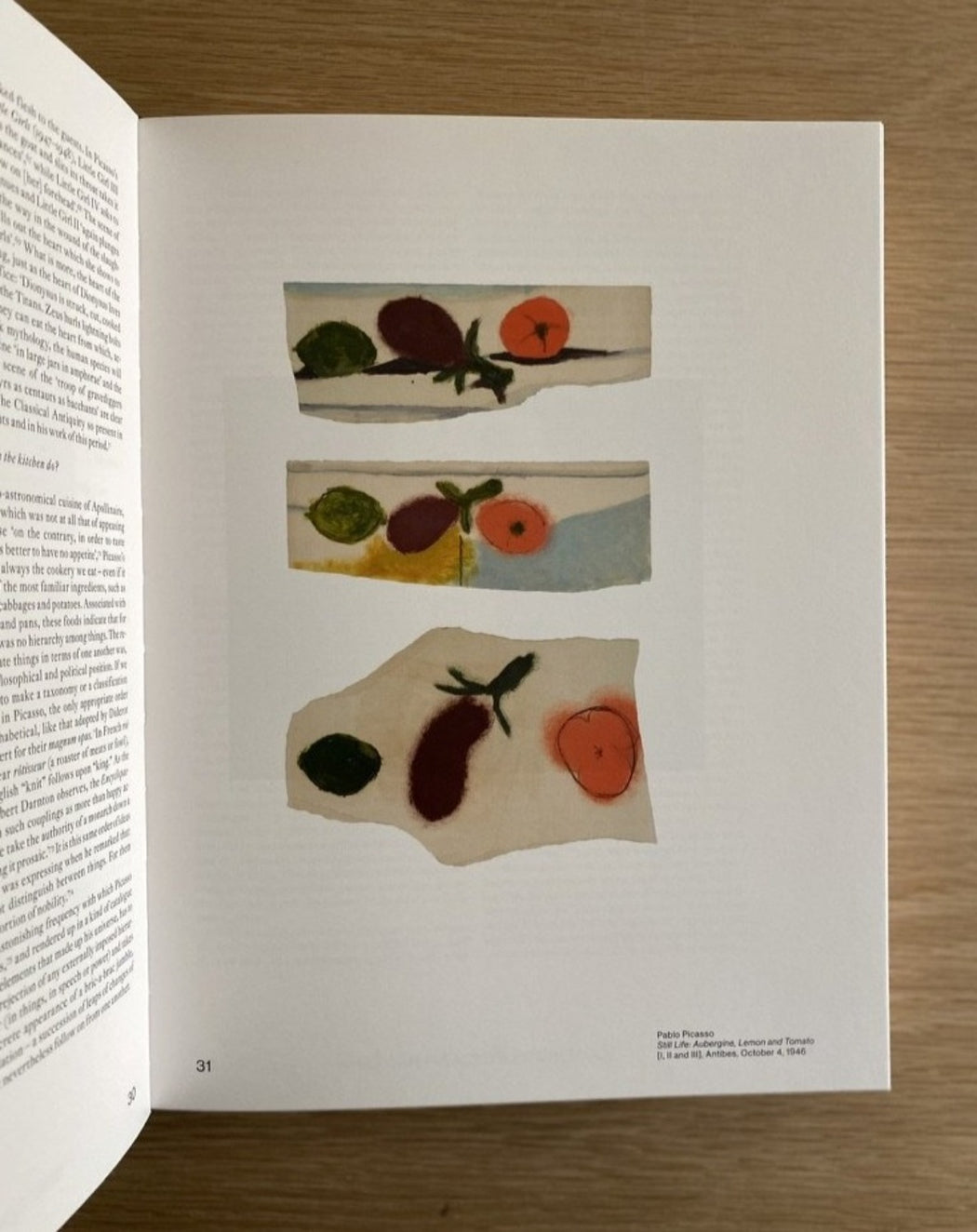 Picasso' s Kitchen - fruit painting - book