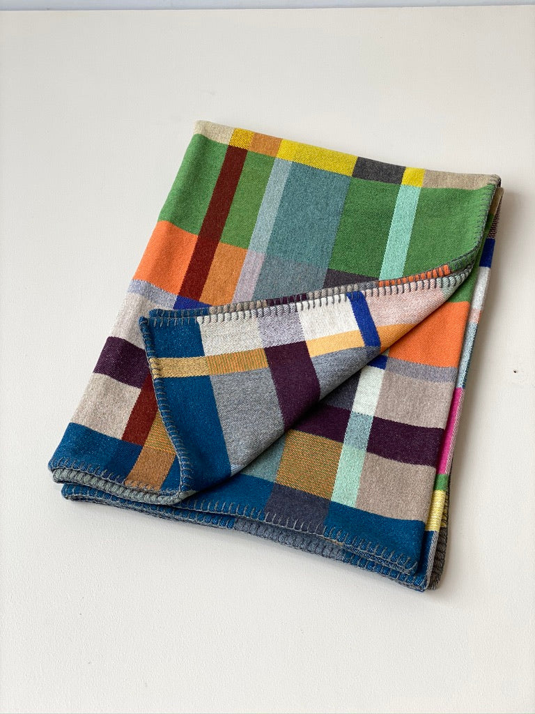Lambswool Throw - Feilden Blue