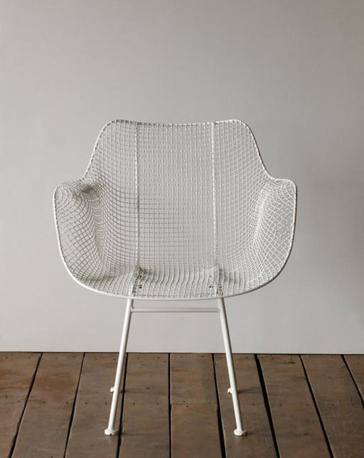 Biscayne Wire Armchair  White  Seating  Lostine