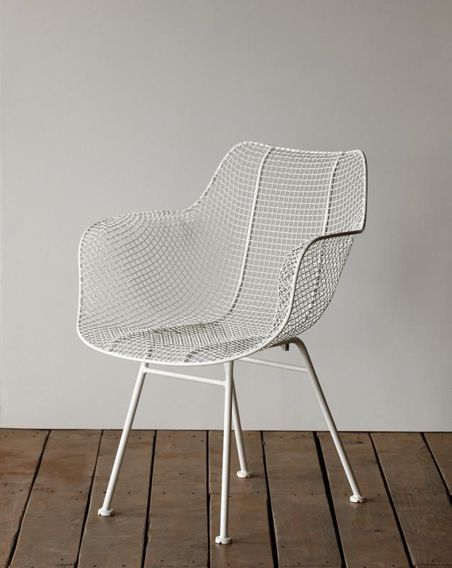Biscayne Wire Armchair - White - Seating - Lostine