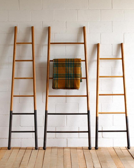 Lostine Bloak wooden ladder dip dyed black oak usa decorative