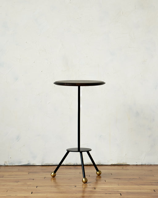 LOSTINE CALVIN SIDE TABLE WITH EBONY BASE